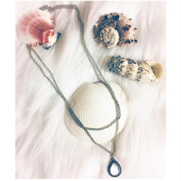 New! Women's Bohemian Beach Drop Stone Necklace
